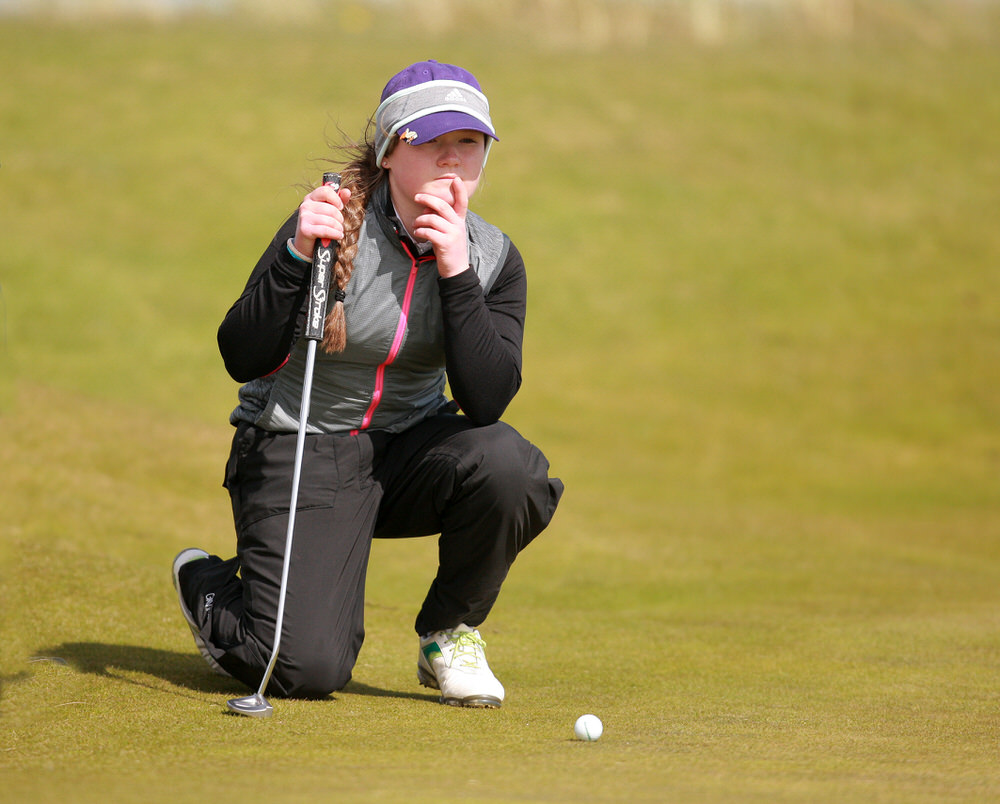 Valerie Clancy (Killarney) during last year's Irish Women's Open Strokeplay at The Island. Picture: Ronan Lang