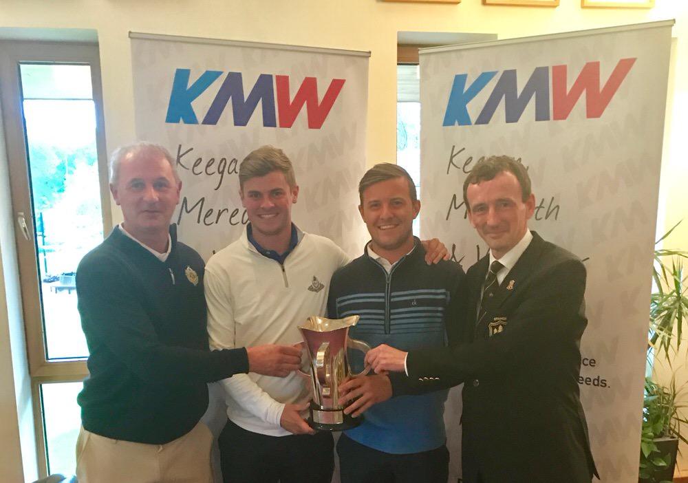 (L-R) John Williams (sponsor) with Jack Pierse, Robbie Pierse and John Nolan (Grange Captain)