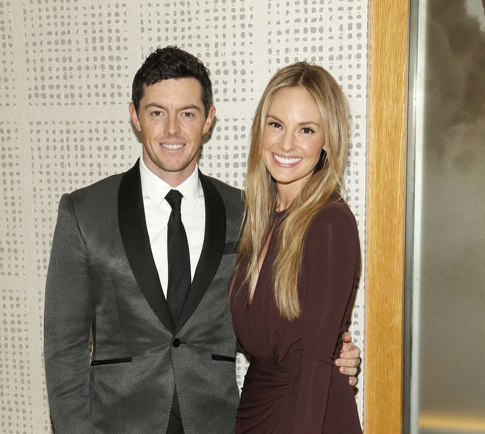 Rory McIlroy with his fiancee Erica Stoll