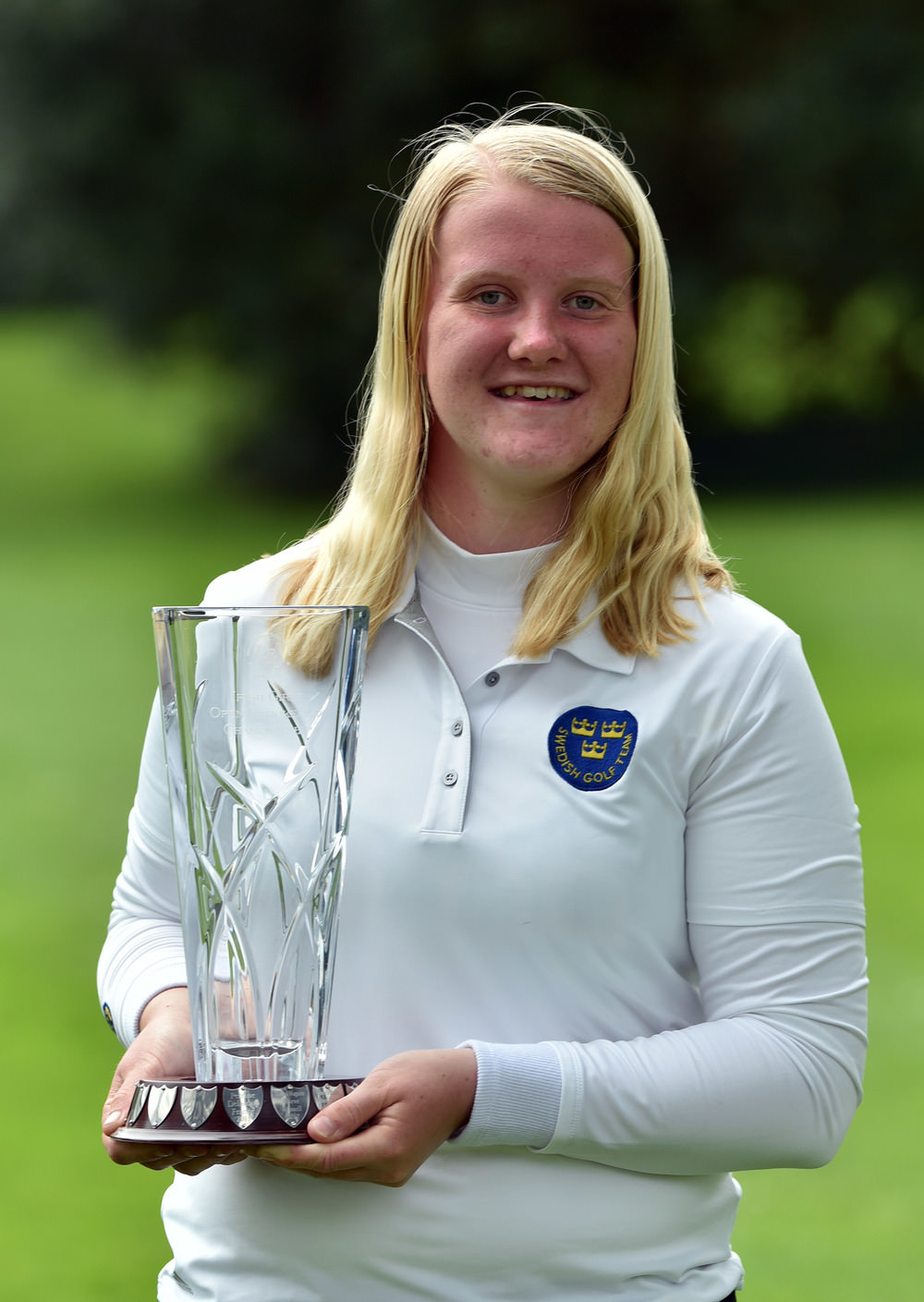 Winner Ingrid Lindblad (Sweden) at Roganstown Golf Club (09/04/2017) Picture by  Pat Cashman