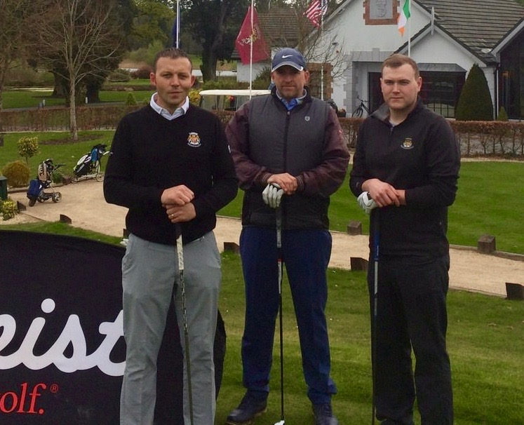 Dave Foley (Dromoland PGA), Tony Cleary (Woodstock), Jason O'Leary (Dromoland)