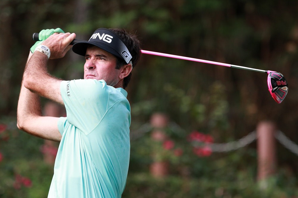 SHENZHEN, CHINA - APRIL 20:  Bubba Watson of the United States plays a shot during the first round of the Shenzhen International at Genzon Golf Club on April 20, 2017 in Shenzhen, China.  (Photo by Zhong Zhi/Getty Images)