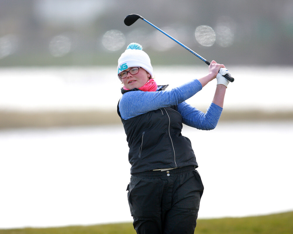 Annabel Wilson (Lurgan) during last week's Irish Women's Open Strokeplay at The Island. Picture: Ronan Lang