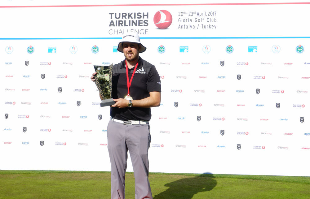 Winner Ryan Evans. Picture courtesy Turkish Airlines