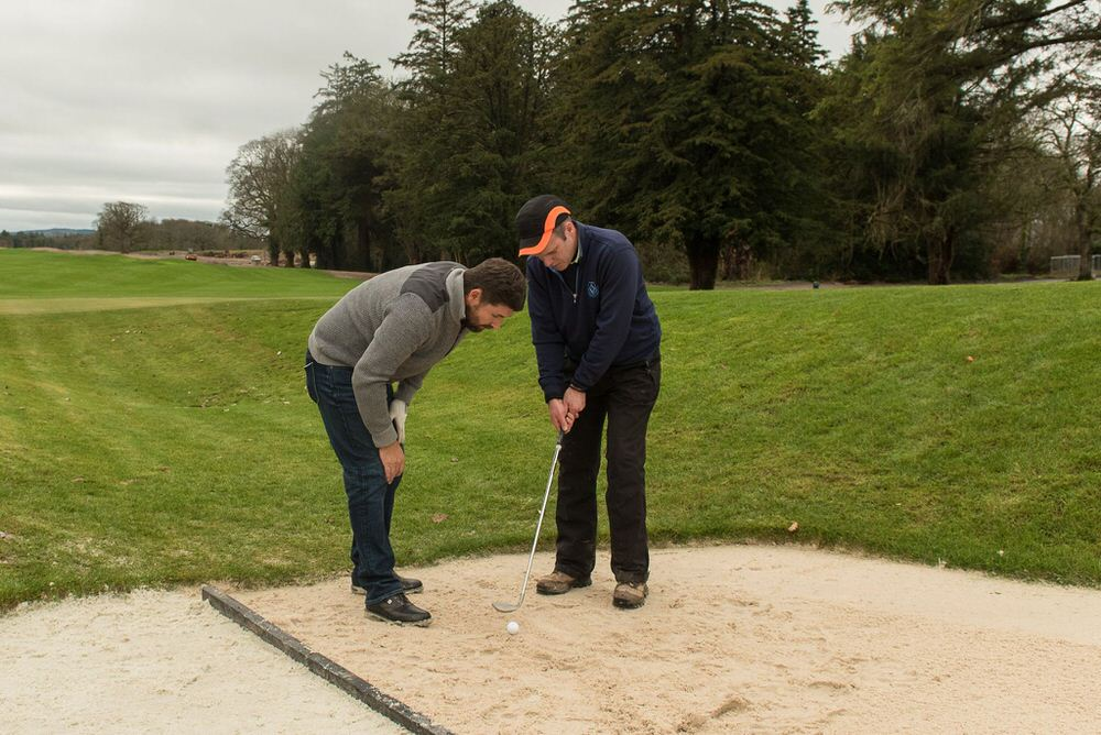 Harrington with Adare Manor's Alan MacDonnell (Golf Course Superintendent)