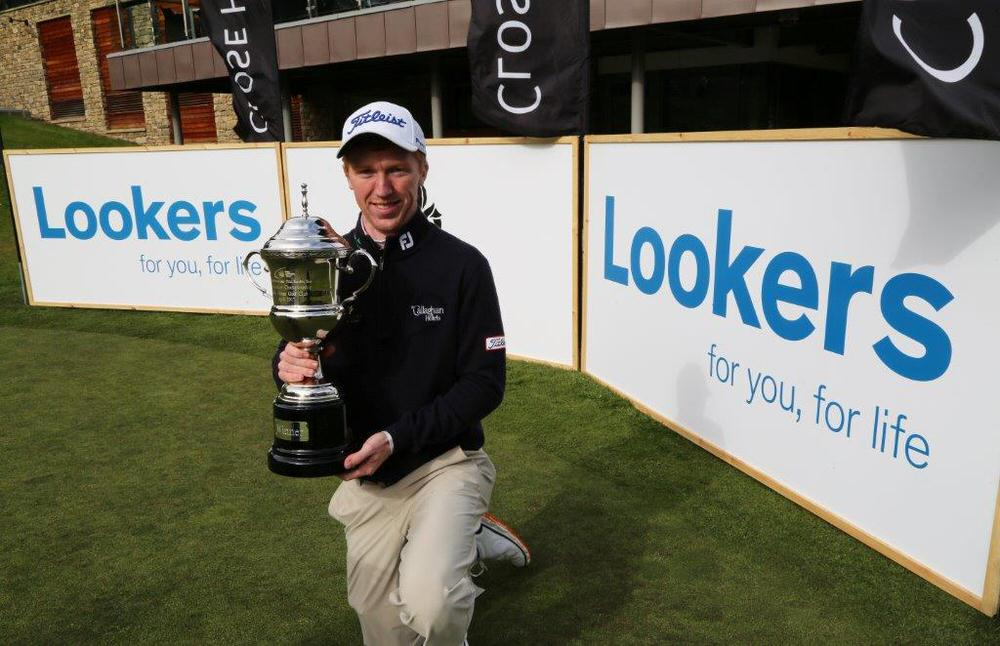 Gavin Moynihan with his maiden title  - the Lookers Championship. Picture © PGA Europro Tour