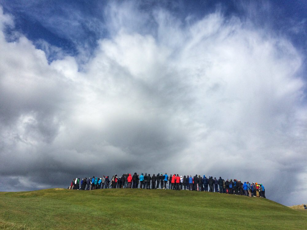 Spectators at the West of Ireland Championship