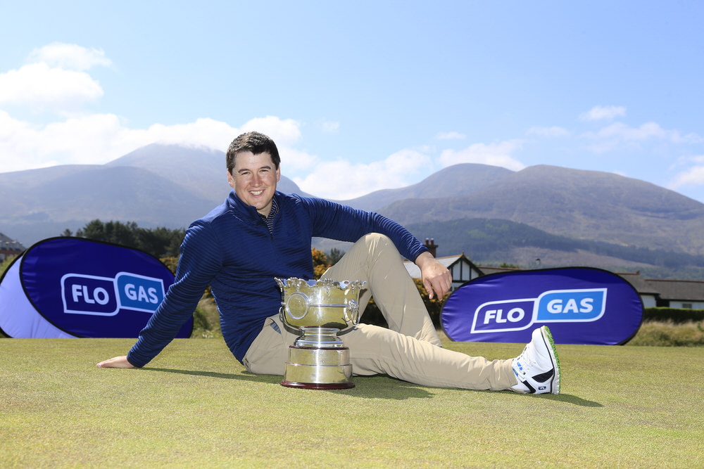 Colm Campbell pictured at Royal County Down Golf club ahead of his title defence of the Flogas Irish Amateur Open Championship. Picture: Golffile | Fran Caffrey
