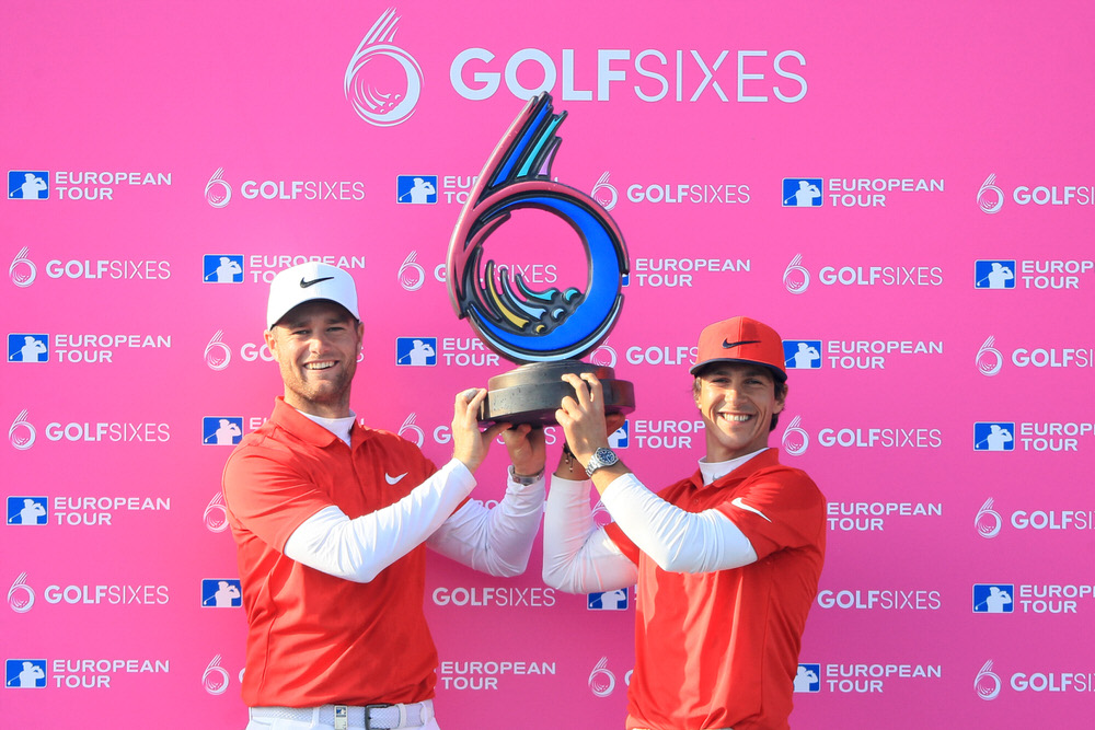GolfSixes champions Thorbjørn Olesen and Lucas Bjerregaard of Denmark. Picture: Getty Images