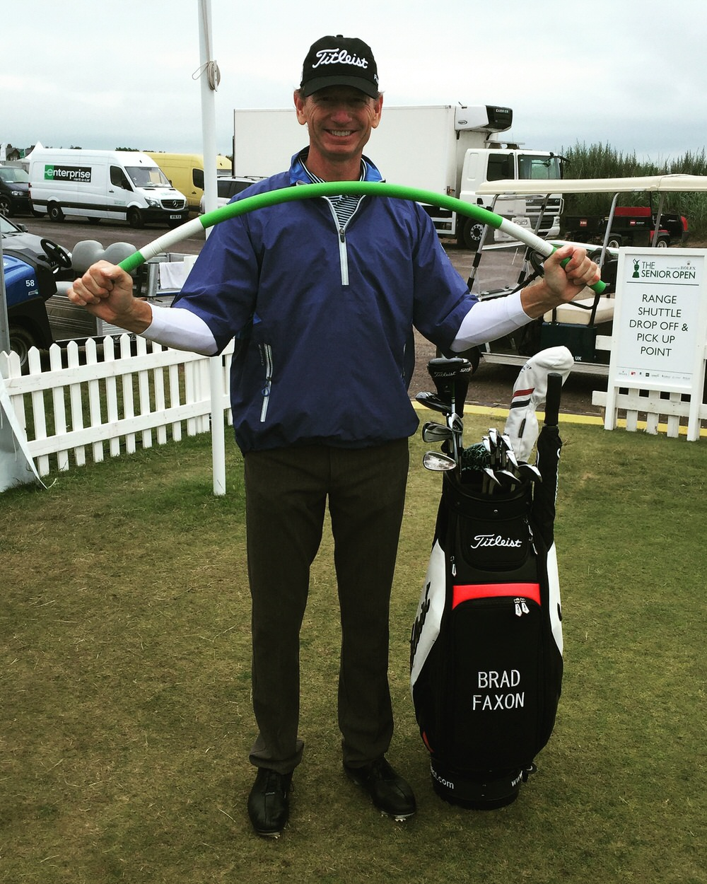 Brad Faxon with his ProFitStick