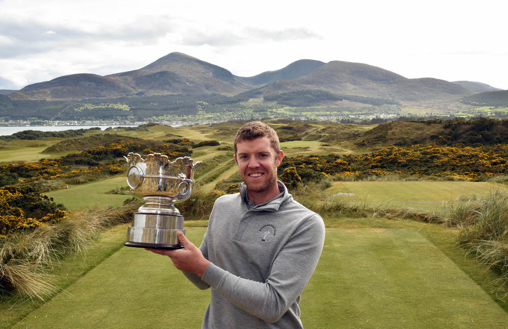Peter O'Keeffe (Douglas) winner of the Flogas Irish Amateur Open Championship at Royal County Down Golf Club today (14/05/2017). Picture by Pat Cashman