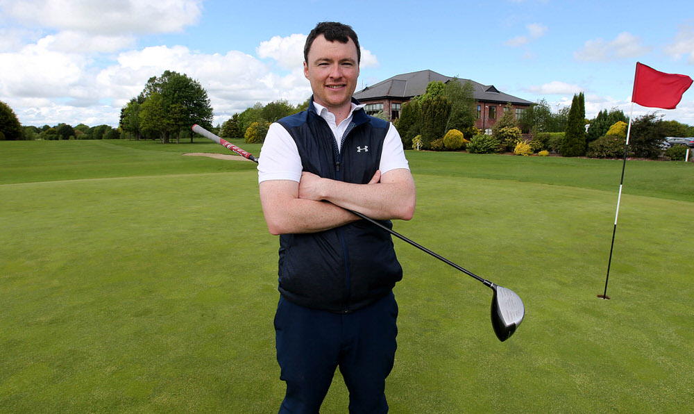 TRIM, IRELAND - MAY 16: Eoin Arthurs from Kinsealy Grange Golf Academy, winner of the PGA Asssitants' Championship - Ireland Qualifier at County Meath Golf Club on May 16, 2017 in Trim, Ireland. (Photo by Patrick Bolger/Getty Images)