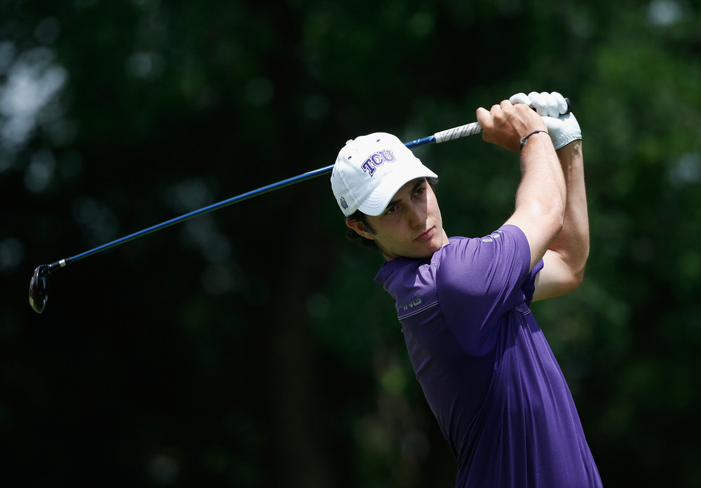 Julien Brun, who shot a career best 62 to qualify in joint second place. Picture: Getty Images