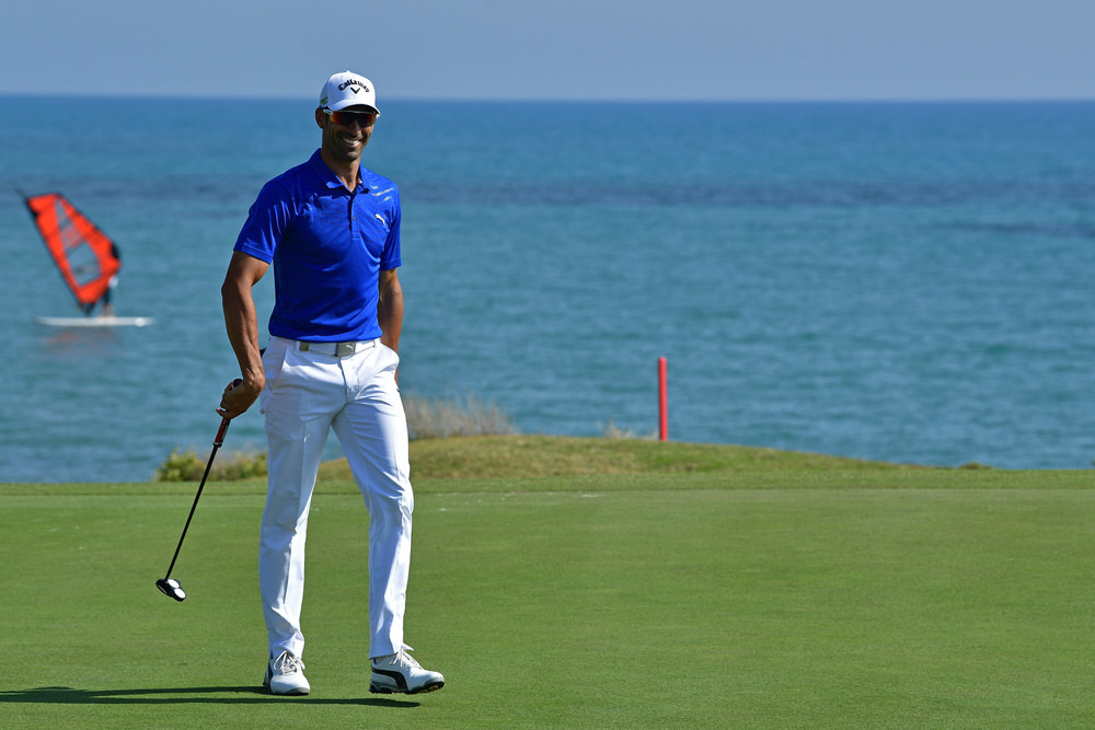 SCIACCA, ITALY - MAY 19:  Alvaro Quiros of Spain walks on the 15th green during the second round of The Rocco Forte Open at The Verdura Golf and Spa Resort on May 19, 2017 in Sciacca, Italy.  (Photo by Stuart Franklin/Getty Images)