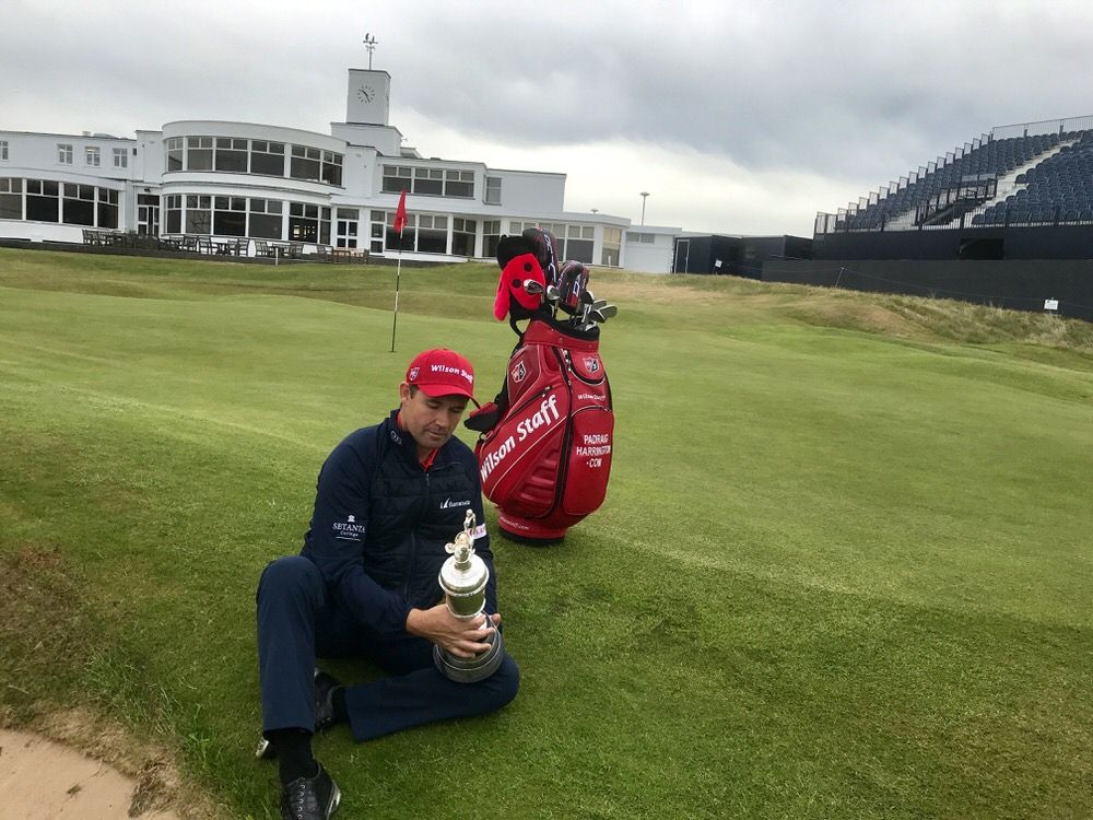 Pádraig Harrington at Royal Birkdale on Monday, scene of his second major win in 2008