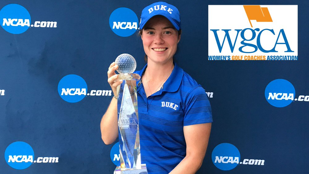Duke's Leona Maguire was voted PING Player of the Year by the WGCA for the second time in three years