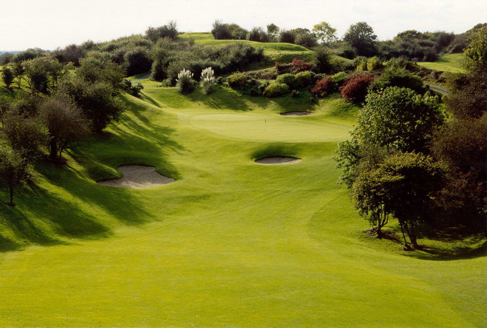 The fourth green at Esker Hills