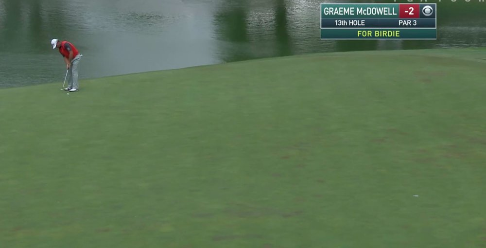 Graeme McDowell birdies the 13th