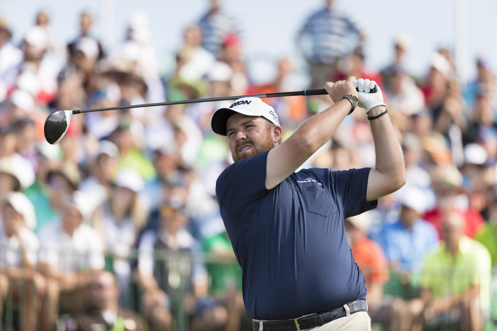 Shane Lowry watches his tee shot on the first hole during the third round of the 2017 U.S. Open at Erin Hills in Erin, Wis. on Saturday, June 17, 2017. (Copyright USGA/Fred Vuich)
