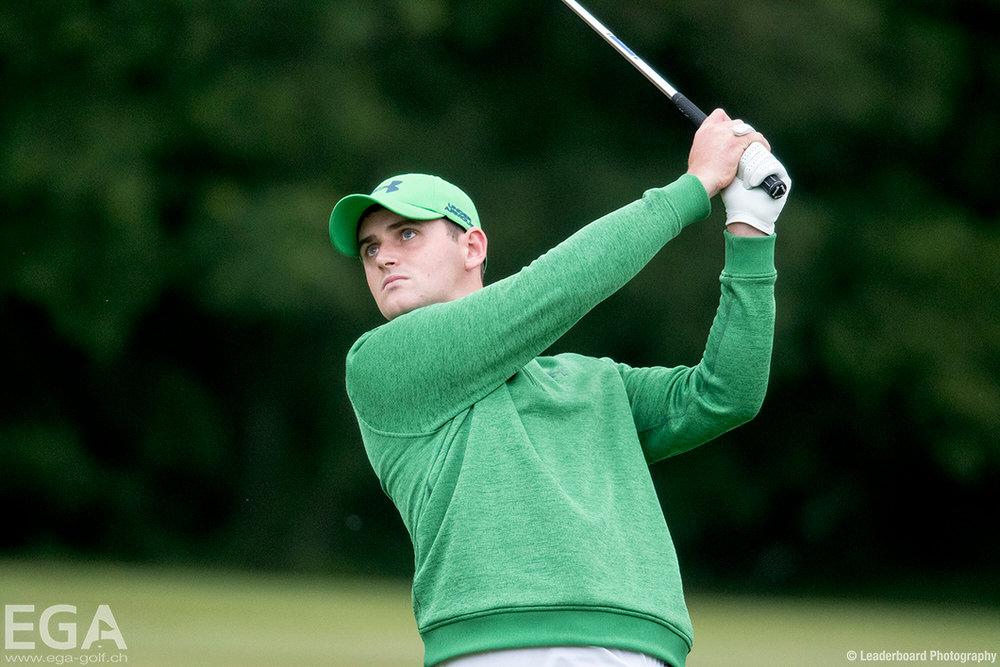 Naas' Conor O'Rourke in action at Walton Heath. Picture © Leaderboard Photography