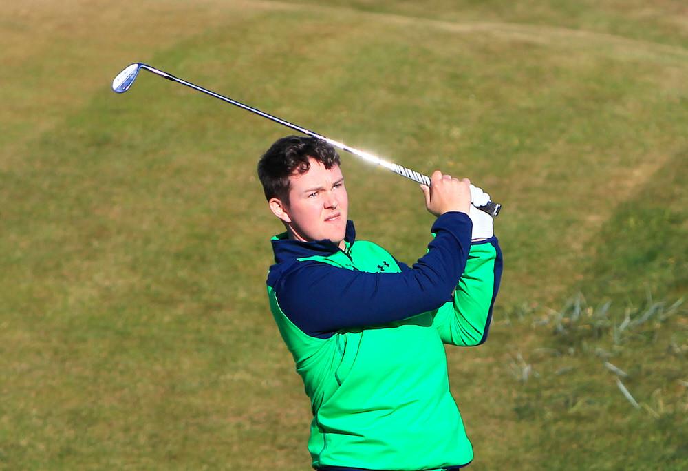 John-Ross Galbraith (Whitehead Golf Club) during the Lytham Trophy. Photo ©Golffile / Thos Caffrey.
