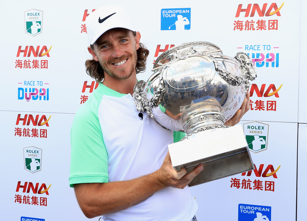 PARIS, FRANCE - JULY 02:  Tommy Fleetwood of England celebrates victory following day four of the HNA Open de France at Le Golf National on July 2, 2017 in Paris, France.  (Photo by Andrew Redington/Getty Images)