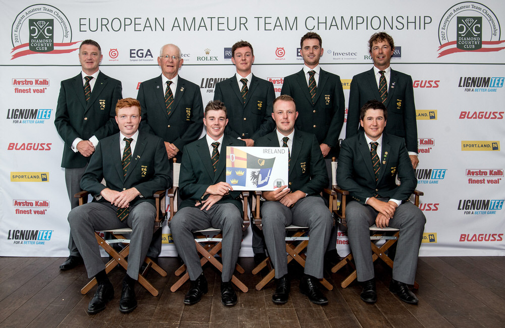 The Irish Senior Men's team at the 2017 European Amateur Team Championships in Austria.