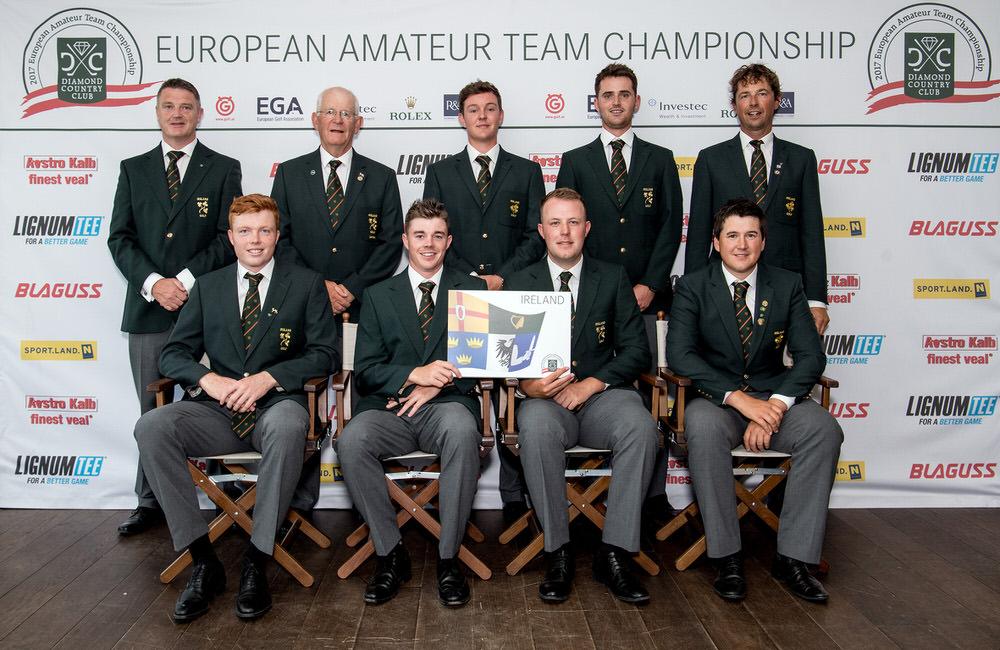 The Irish Senior Men's team at the 2017 European Amateur Team Championships in Austria.