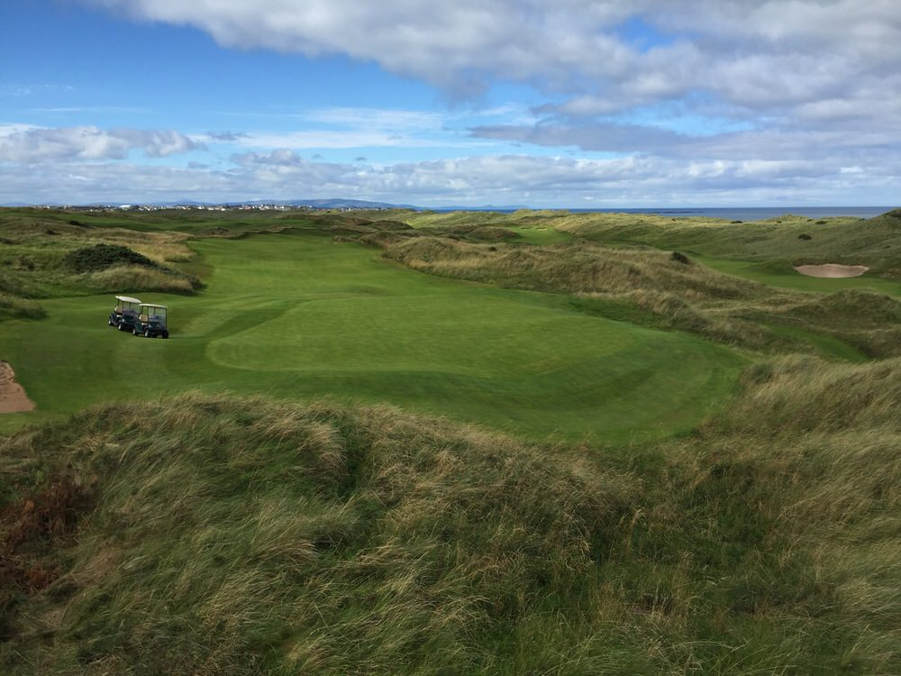 The new eighth hole at Royal Portrush