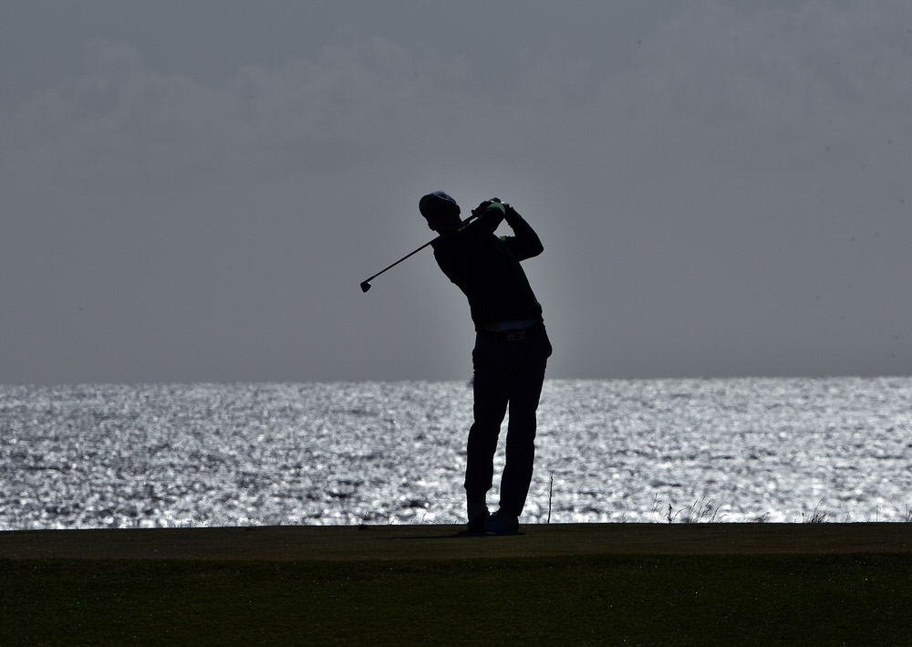 Alex Gleeson (Castle) pictured during the Carey Cup at Galway Bay Golf Resort in May. Picture by  Pat Cashman