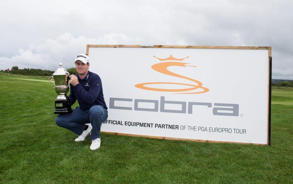 Jonny Caldwell will the Cobra Puma Golf Championship trophy. Picture: PGA Europro Tour