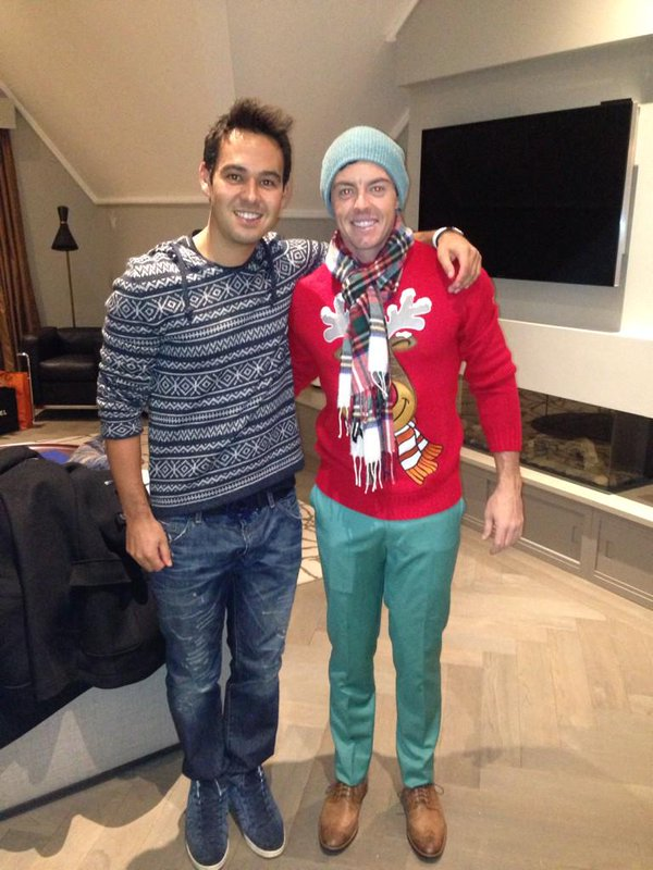 Harry Diamond and Rory McIlroy in celebrating Christmas on 2014. Via  Twitter