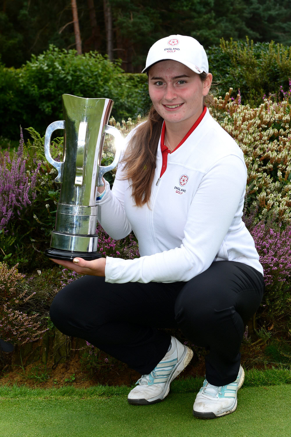 Lily May Humphreys won the 2017 Girls British Open Amateur championship at Enville. Credit: The R&A