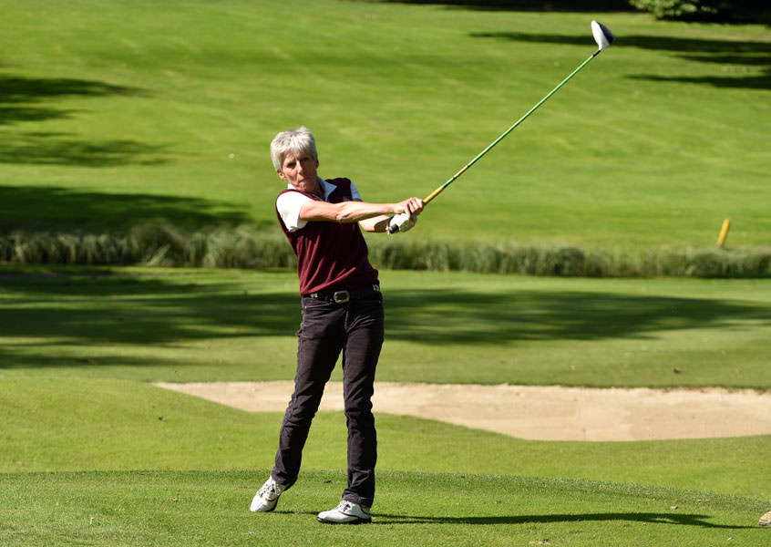 Helen Jones (Royal Portrush) is making her 33rd appearance for Royal Portrush in the Irish Senior Cup. Picture ©  Pat Cashman