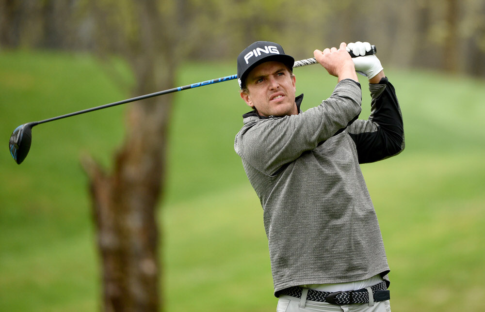 Nico Geyger of Chile during the first round of Challenge de Madrid at the Real Club de Golf La Herreria on April 28, 2016 in Madrid, . (Photo by Ross Kinnaird/Getty Images)