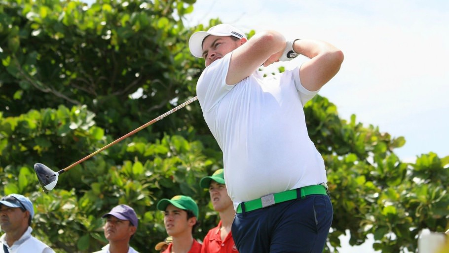 Caolan Rafferty in action in round three in Colombia