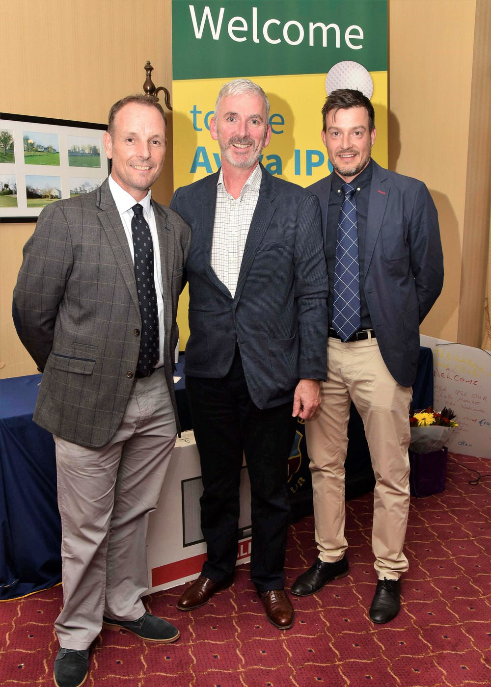 (Left to right) David Higgins, Aviva representative Colin Ryan, and Simon Thornton