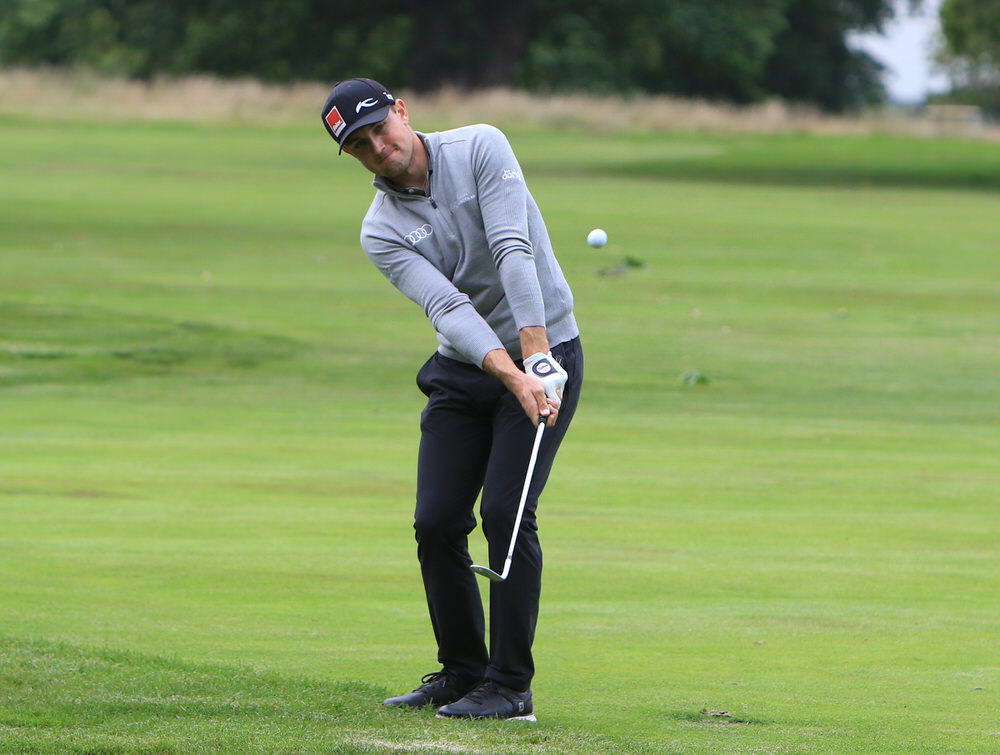 Joel Girrbach (SUI) on the 18th fairway during Round 1 of the Bridgestone Challenge 2017 at the Luton Hoo Hotel Golf & Spa, Luton, Bedfordshire, England. 07/09/2017 Picture: Golffile | Thos Caffrey