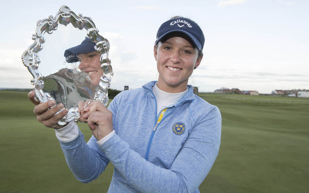 Caption: Linn Grant won the Ladies British Open Amateur Stroke Play Championship at North Berwick.