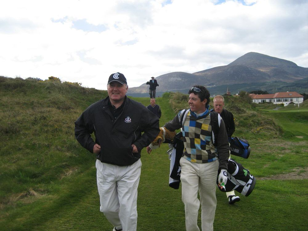 Rory McIlroy, pictured here with Ronan Rafferty in practice for the 2007 Walker Cup, was a safe bet to be a success as a professional.