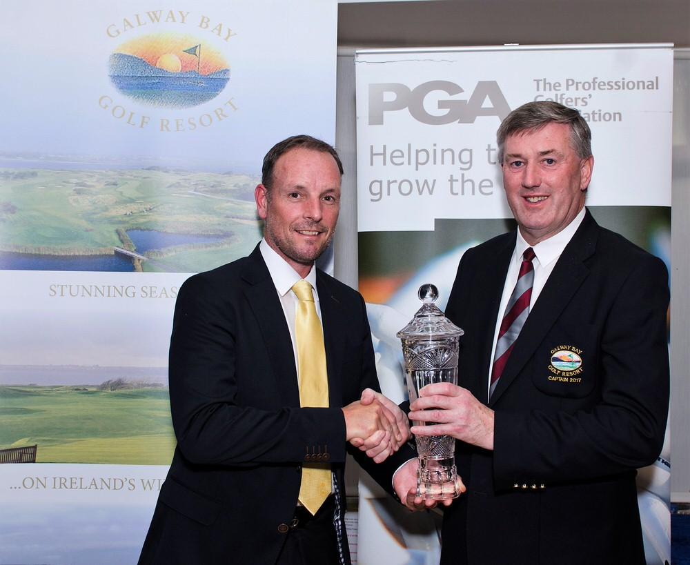 David Higgins (left) with Galway Bay Golf Resort captain, Seán Keenan