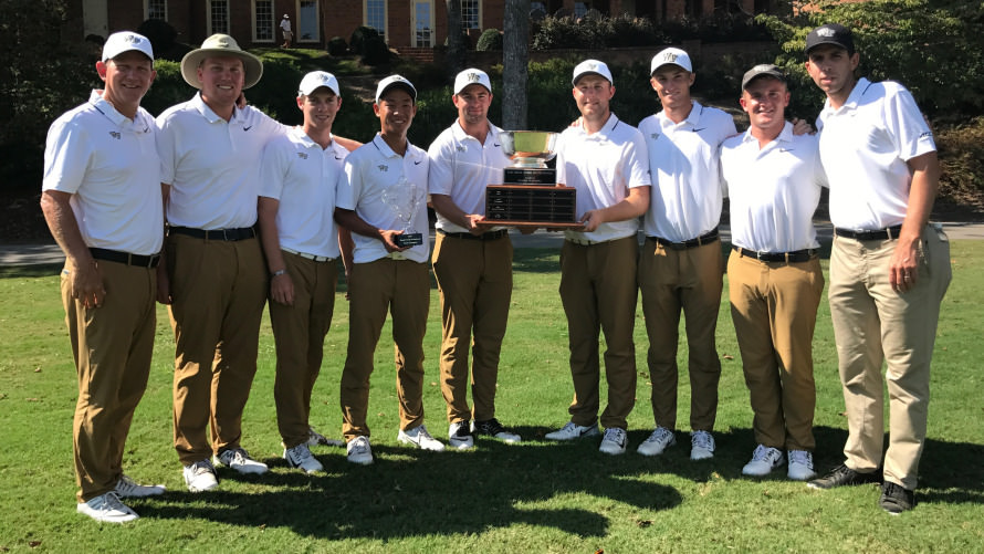 Wake Forest with the Graeme McDowell Shoal Creek Invitational trophy
