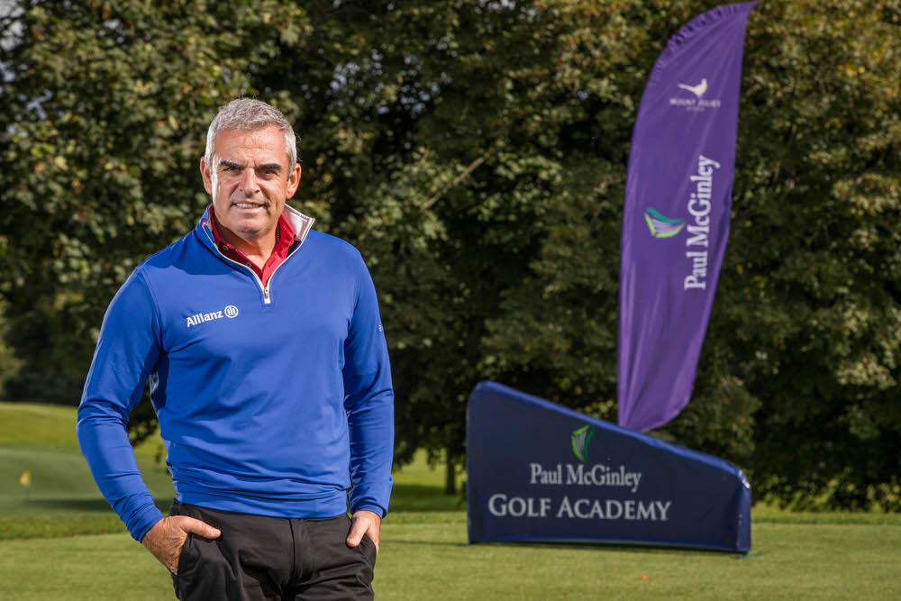 Paul McGinley at the opening of the Paul McGinley Golf Academy at Mount Juliet recently. Credit ©INPHO/Morgan Treacy