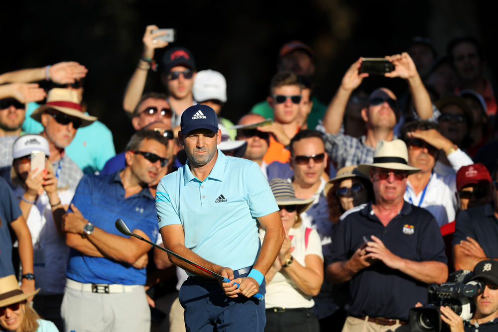 Sergio Garcia chips to the 18th at Real Club Valderrama. Photo by Warren Little/Getty Images