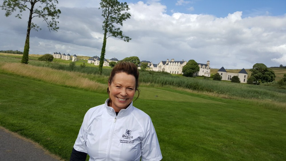 Judy Byrne Murray at Lough Erne, where she finished 11th overall in the Links and Lough Erne Challenge this summer