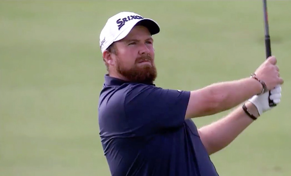 Shane Lowry in action in the third round of the Turkish Airlines Open at Regnum Carya Golf & Spa Resort