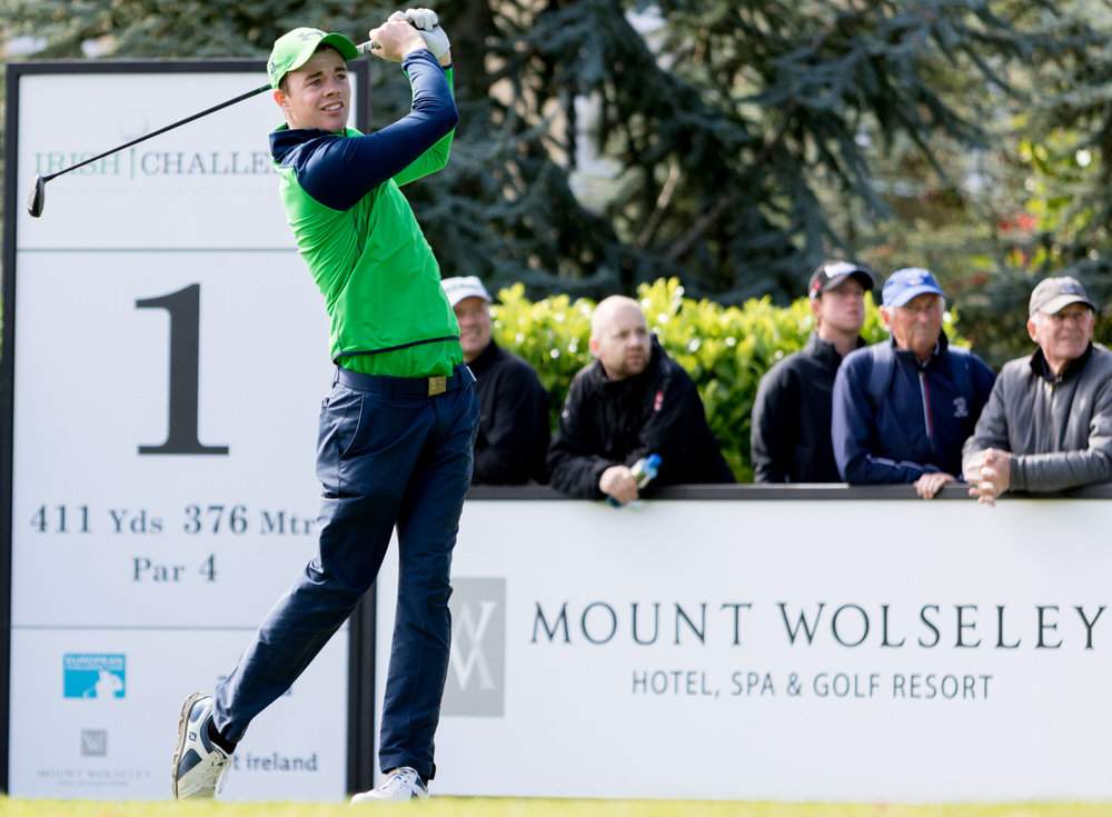 Stuart Grehan during this year's Irish Challenge at Mount Wolseley. Picture: Jimmy Penrose