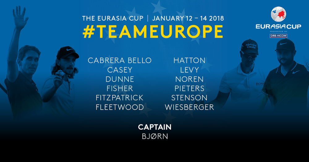 Team Europe for the 2018 Eurasia Cup