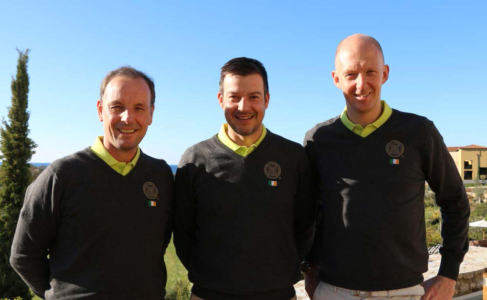 Team Ireland's David Higgins, Simon Thornton and Mark Staunton in Greece