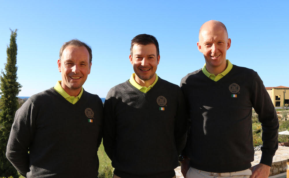 David Higgins, Simon Thornton and Mark Staunton are leading in Greece